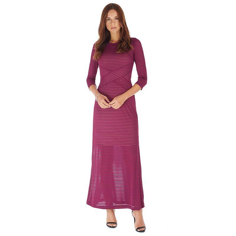 Women's Indication by ECI Burnout Stripe Maxi Dress