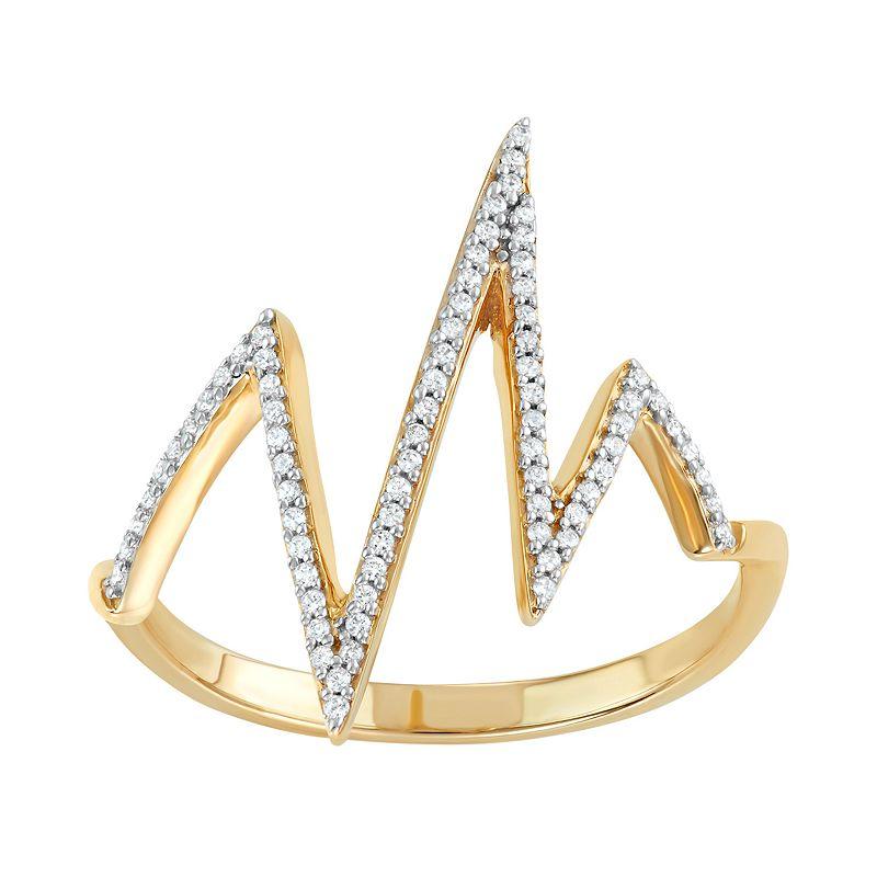 10k Gold 1/6 Carat T.W. Diamond Lightning Bolt Ring