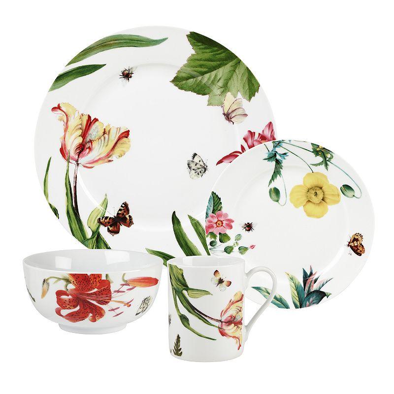 RW Essentials Floral Haven 16-pc. Dinnerware Set