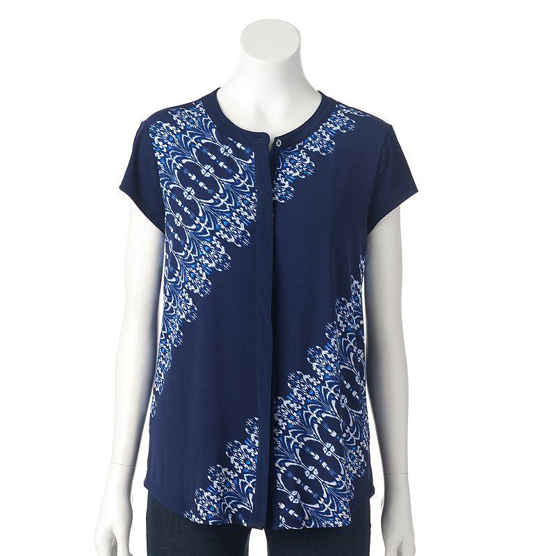 Women's Dana Buchman Mandarin Collar Blouse