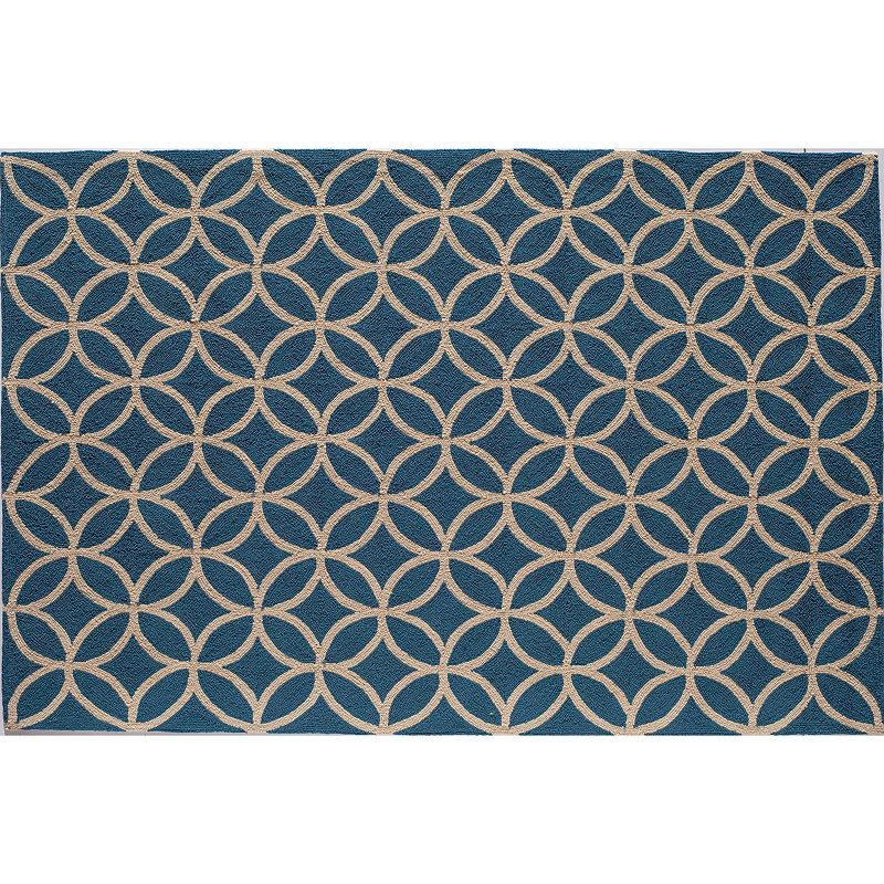 Rugs America Lenai Azure Blue Indoor Outdoor Rug