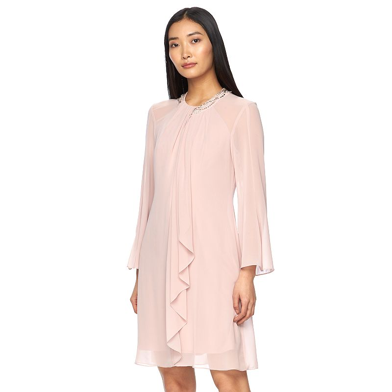Women's Expo Embellished Ruffle Shift Dress