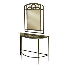 Hillsdale Furniture Marsala Console Table & Wall Mirror 2-piece Set by