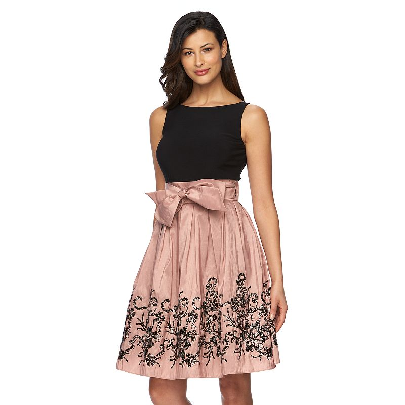 Women's Expo Sequin Taffeta Fit & Flare Dress