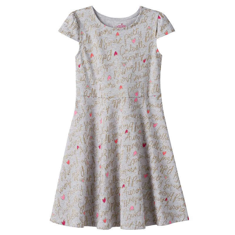 Disney Princess Girls 4-7 Glitter Skater Dress by Jumping Beans®