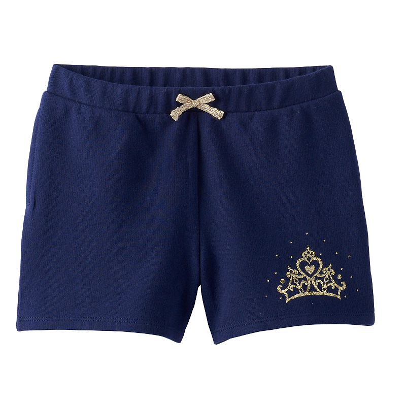 Disney Princess Toddler Girl Glitter Crown French Terry Shorts by Jumping Beans®