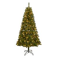 St. Nicholas Square 7-ft. Pre-Lit Artificial Christmas Tree