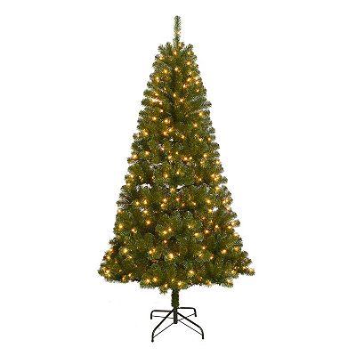 St. Nicholas 7-ft. Artificial Christmas Tree + $15 Kohls Cash