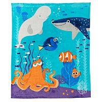 Disney's Finding Dory Dory, Hank & Nemo Plush Throw by Jumping Beans®