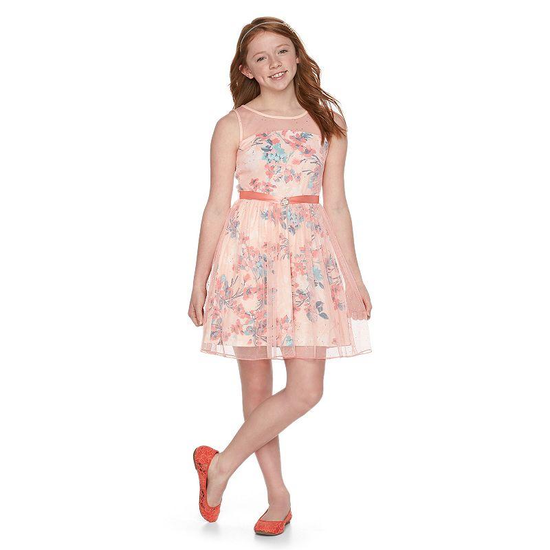 Girls 7-16 Lily Rose Sparkle Skater Dress