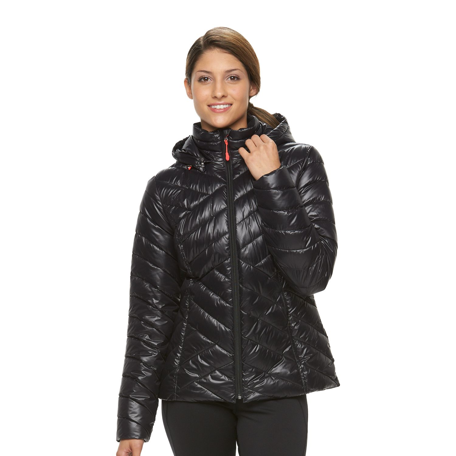 Womens Tek Gear? Hooded Packable Puffer Jacket