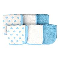 giggle Baby 6-pk. Print & Solid Washcloths