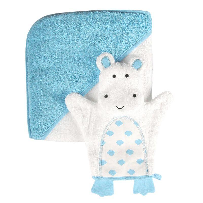 giggle Baby Hooded Towel and Bath Glove Set
