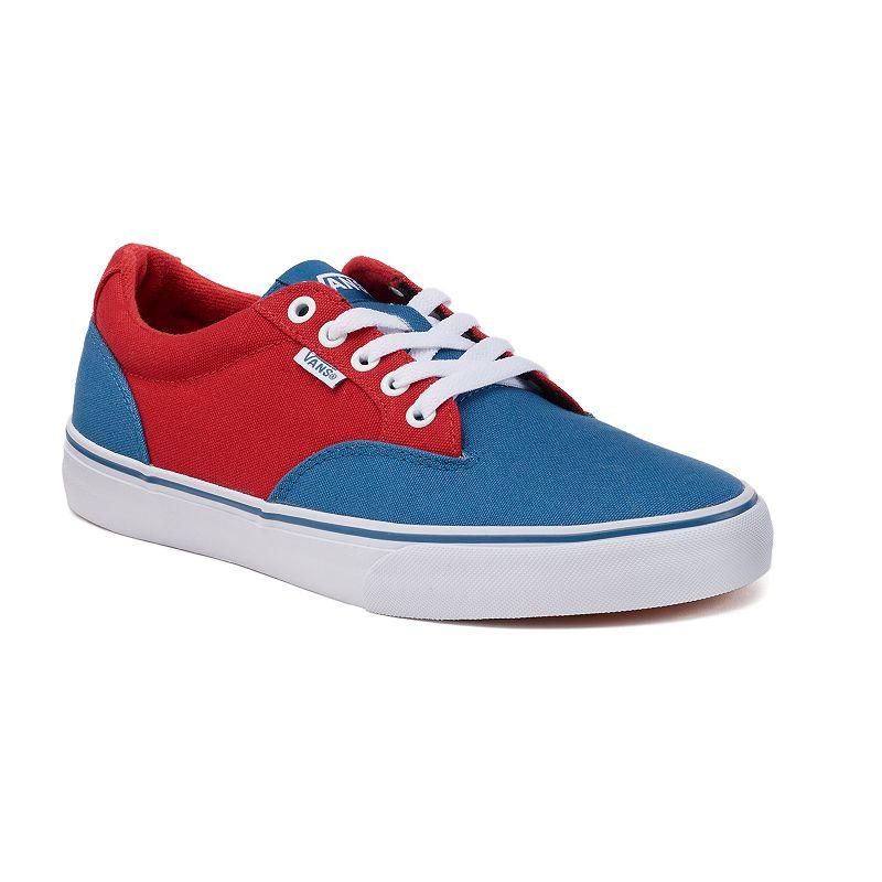 Vans Shoes Color Red Blue Size  Med