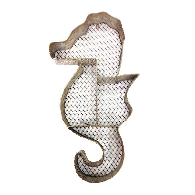 Metal Seahorse Shelf Wall Decor