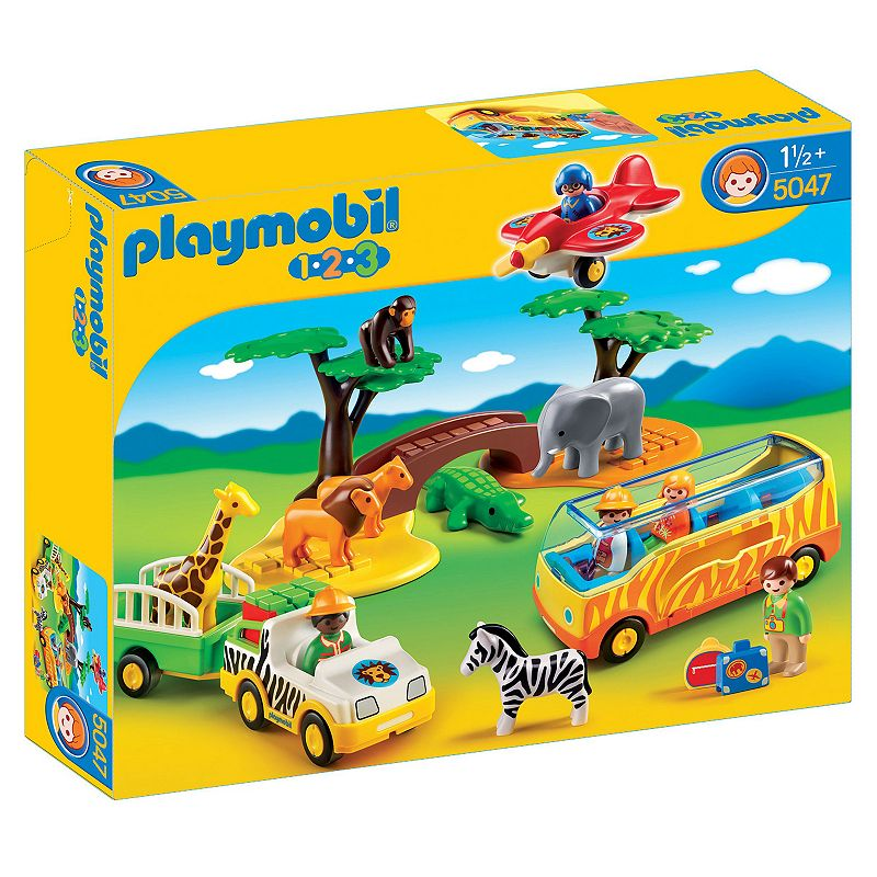 Playmobil 1 2 3 Large African Safari Playset - 5047