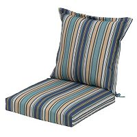 Plantation Patterns Outdoor Back Pillow Dining Chair 2-piece Set
