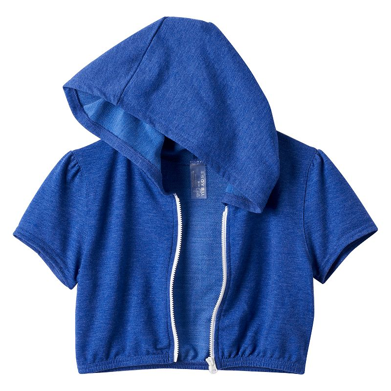 Girls 7-16 Soybu Zip-Front Crop Hoodie