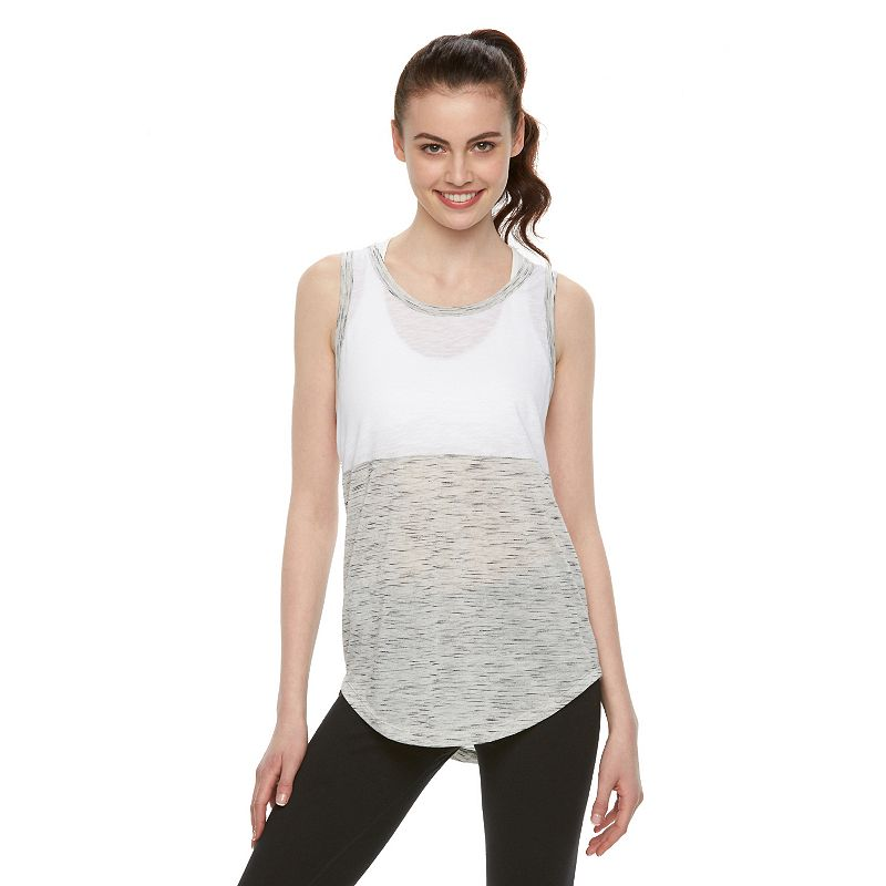 Juniors' SO® Mesh-Back Colorblock Active Tank Top