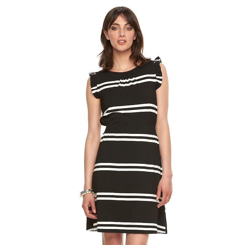 Women's ELLE™ Ruffle Blouson Dress