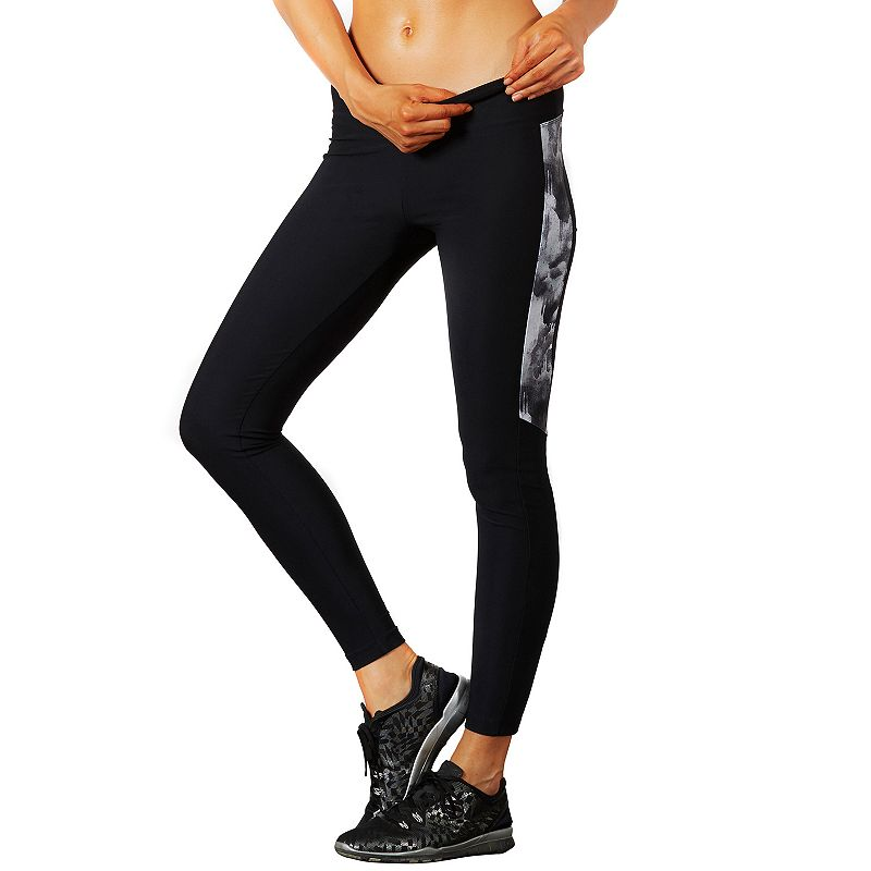 Women's Bally Total Fitness Printed Panel Workout Leggings