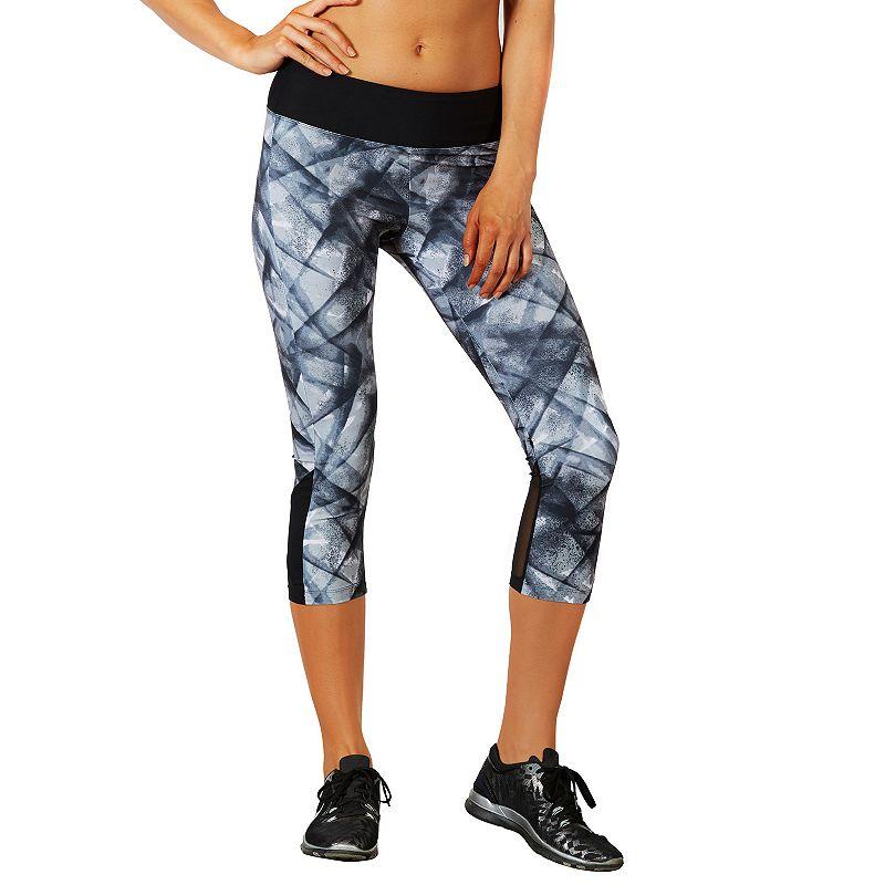 Women's Bally Total Fitness Mesh Hem Capri Workout Leggings