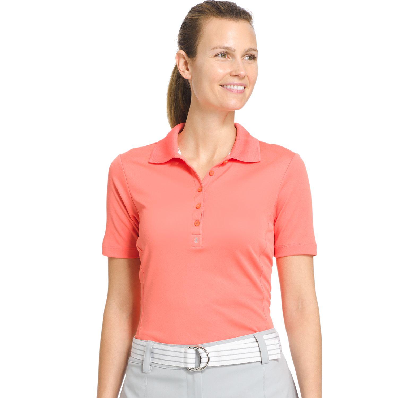 Womens IZOD Tulip Hem Pique Golf Polo