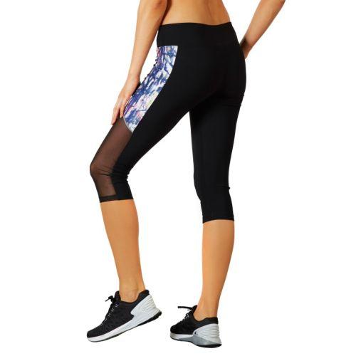 Women's Bally Total Fitness Mesh Panel Capri Workout Leggings