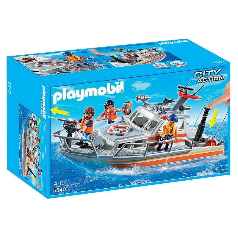 Playmobil Rescue Boat with Water Hose Playset - 5540