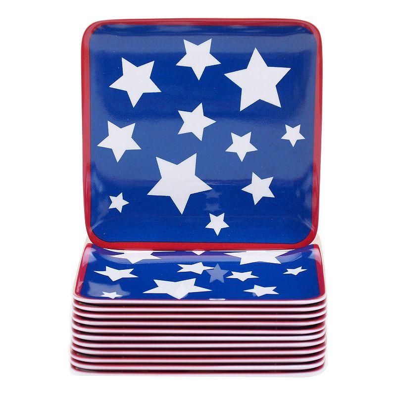 Certified International Stars & Stripes 12-pc. Canape Plate Set