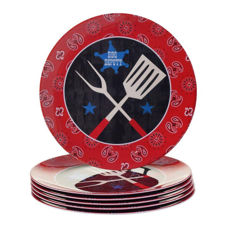 Certified International BBQ Bandit 6-pc. Dinner Plate Set