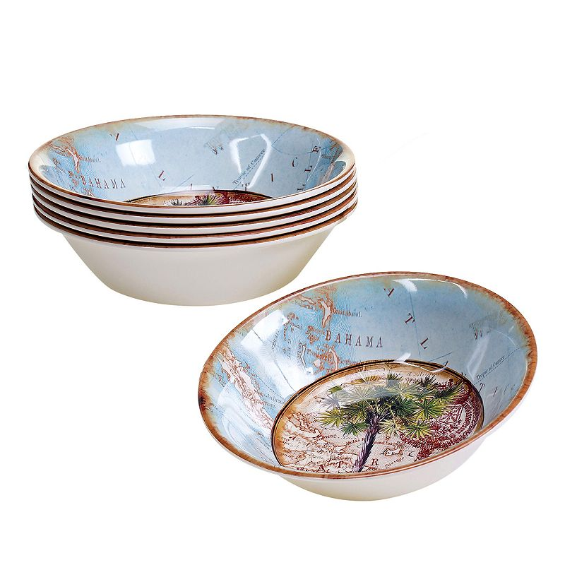 Certified International Antique Palms 6-pc. All-Purpose Bowl Set