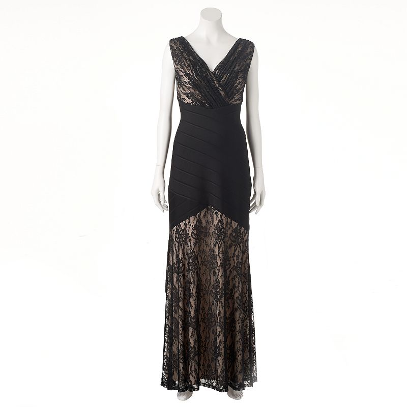 Women's Chaya Mixed-Media Evening Gown