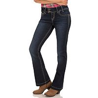 Juniors' Wallflower Embroidered Luscious Curvy Bootcut Jeans
