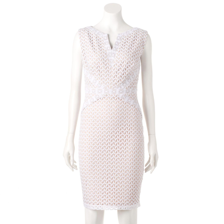 Womens Chaya Abstract Lace Sheath Dress