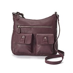 R&R Leather Pocket Tumbled Leather Hobo by