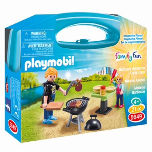 Playmobil Backyard Barbecue Carrying Case Playset - 5649
