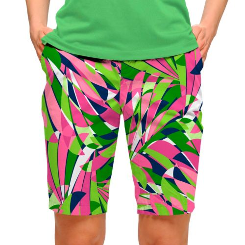 Women's Loudmouth Golf Pink Champagne Bermuda Shorts