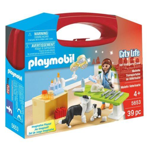 Playmobil Vet Visit Carrying Case Playset - 5653