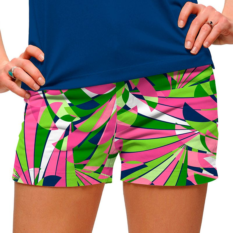 Women's Loudmouth Golf Pink Champagne Mini Shorts