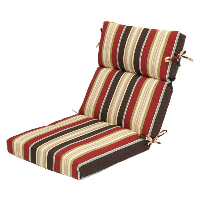 Red Stripe Chair Cushion
