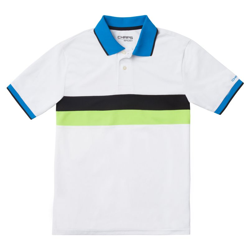 Boys 8-20 Chaps Sport Colorblock Polo, Boy's, Size: Small, White