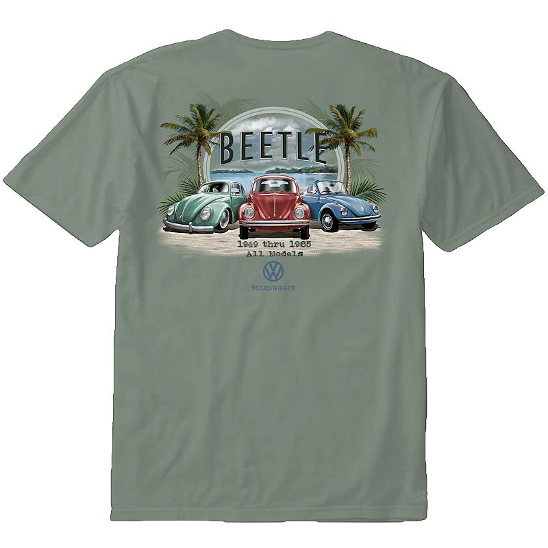 Men's Newport Blue Volkswagen Beetle Tee