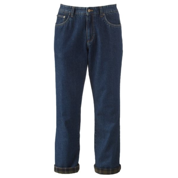 Men's Croft & Barrow® Classic-Fit Flannel-Lined Flat-Front Jeans