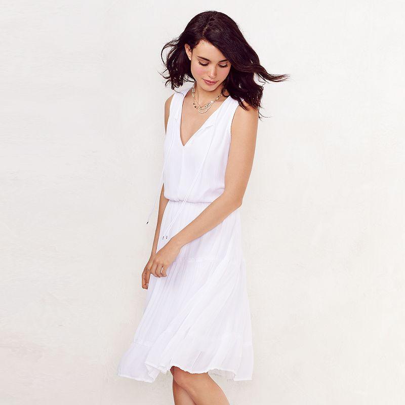 Women's LC Lauren Conrad Crepe Midi Dress