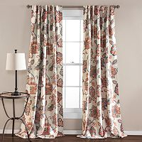 Lush Decor 2-pack Aster Jacobean Room Darkening Curtains