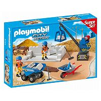 Playmobil City Action Construction Site Super Set - 6144
