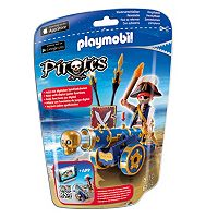 Playmobil Pirates Blue Interactive Cannon With Pirate - 6064