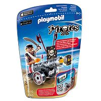 Playmobil Pirates Black Interactive Cannon With Raider - 6065