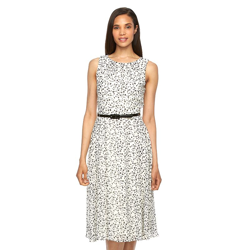 Women's Jessica Howard Belted Fit & Flare Dress